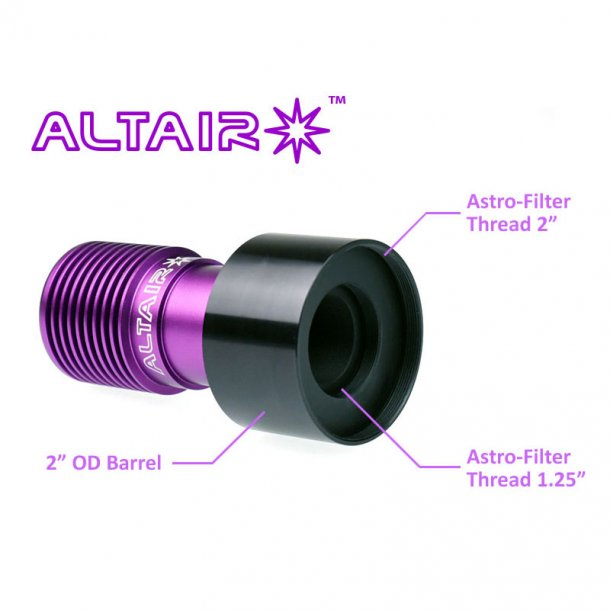"Altair GPCAM 2"" adapter m/dual filter gevind"