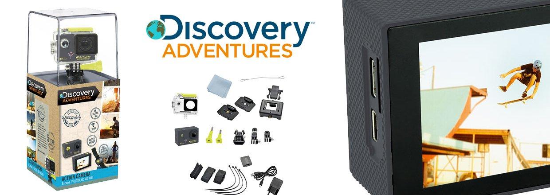Et actionkamera fra Discovery Adventures lader dig indfange dine eventyr og dele dem med dine venner.