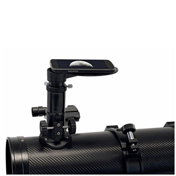 Bresser Galaxia 114/900mm Carbon teleskop m/Smartphone adapter (EQ)
