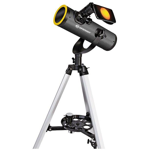 Bresser Solarix 76/350mm teleskop m/solfilter & Smartphone adapter (AZ)