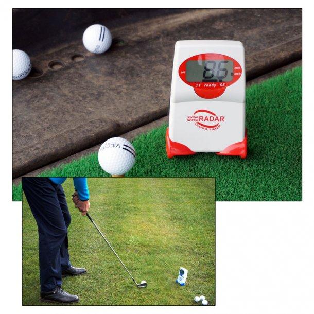 Swing Speed Radar med Tempo Timer til golf